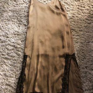 Zara satin slit dress